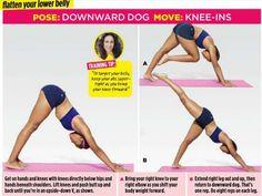 down dog knee ins