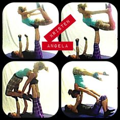 Check out the Chill Capri in Earth Batik and Pocket top from #pbathleticwear in action. #acroyoga