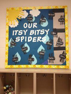 Itsy Bitsy Spider bulletin board for pre school!