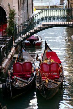 Venetian gondolas, Venice, Italy