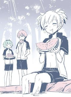 Kayano,karma and nagisa Anime Meme, Manga Anime, All Anime, Otaku Anime, Cool Animes, Images Kawaii, Nagisa X Kayano, Koro Sensei, Nagisa And Karma