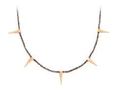 Eva Fehren- 18k Rose Gold with opaque grey diamonds