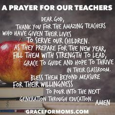 Back to School Prayer for Teachers