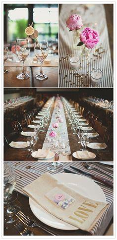 Sparkly Smog Shoppe Wedding via 100 Layer Cake Chic Wedding, Wedding Table, Wedding Details, Our Wedding, Reception Decorations, Event Decor, 100 Layer Cake, Here Comes The Bride, Wedding Bells