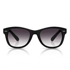 SUNGLASSJUNKIE.COM unisex black retro wood wayfarer sunglasses
