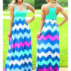 Wholesale Bohemian Scoop Neck Zigzag Sleeveless Dress For Women Only $5.19 Drop Shipping   TrendsGal.com