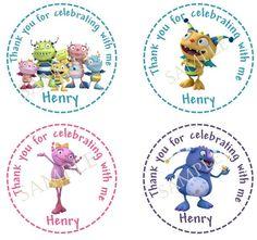Henry Hugglemonster Birthday Favor Tags - printable tags and party supplies