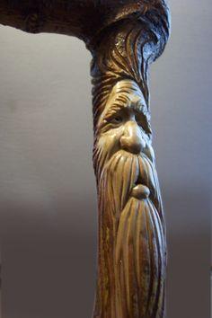 Greg Hand Cane Wood Spirit