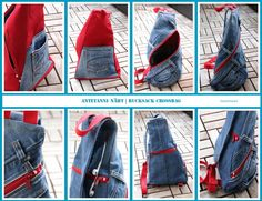 Crossbag made of jeans antetanni sews- Crossbag made of jeans antetanni sews Trash To Couture, Jeans Girl, Jean Diy, Blue Jean Chef, Kurti With Jeans, Jeans Outfit Summer, Summer Jeans, Outfit Jeans, Outfit Winter