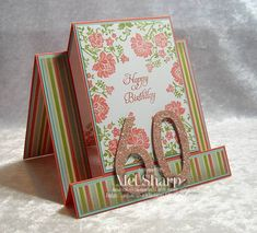 Fresh Vintage 60th Birthday by stampinandstuff - Cards and Paper Crafts at Splitcoaststampers
