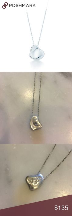 Elsa Peretti Tiffany & Co Full Heart Necklace Elsa Peretti Tiffany & Co Necklace. In great condition. Sterling silver. 16 inch chain Tiffany & Co. Jewelry Necklaces