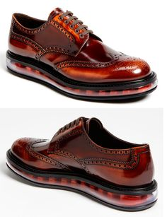Prada's Levitate Wingtip. Hybrid shoes, a step forward #musthave #men #shoes #fashion #style #awesome