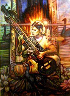 "Saraswati Images ""saraswati de colores"""