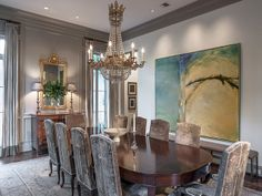 Dining room featured in Luxe Magazine | @lucaseilers #DiningRoom #HomeDecor #InteriorDesign #Luxe Image credit Carl Mayfield