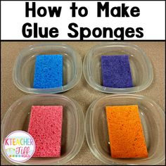 Step by step instructions for how to make glue sponges...and save your sanity! Great post!