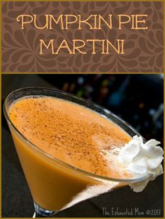 Recipe for a Pumpkin Pie Martini