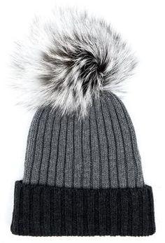 13b71f244db Harrods of London Wool Contrast Pom Pom Beanie - ShopStyle Misc