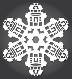 Show off your love of #StarWars this holiday season with this R2-D2 snowflake design.