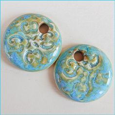Made with porcelain clay. Have a round shape . Blue…