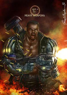 Mortal Kombat X Jax-Heavy Weapons Variation by Grapiqkad