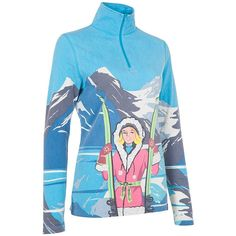 Neve Designs Verbier 1/4-Zip Turtleneck Sweater Womens. One in a series of vintage resort inspired printed tops Neve Designs Verbier 1/4 Zip Turtleneck Sweater celebrates its namesake resort It also celebrates you with a colorful look flattering performance fit and vintage m+¬lange fabric The graphic is inspired by the ski posters of the 1950s and 60s Wear it under your ski jacket on the slopes or around the village 100pct vintage melange yarn Light weight material is perfect for layering...
