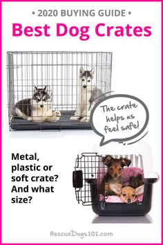 Looking for dog crate ideas? Choosing the right crate is confusing. Puppy Potty Training Tips, Dog Training, Soft Dog Crates, Jumping Dog, Dog Gadgets, Dog Separation Anxiety, Rescue Puppies, Crate Ideas, Dogs 101