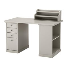 IKEA - KLIMPEN, Table, , Can be placed anywhere in the room because the back is finished.Slot for a label on each drawer so you can easily keep things organized and find what you are looking for.Drawer stops prevent the drawers from being pulled out too far.You can customize your storage with the adjustable shelf.