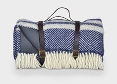 Navy Blue and Grey Waterproof Picnic Blanket