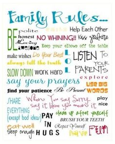FREE Family Rule Printable