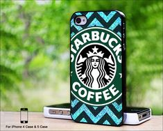 Starbucks Coffee Chevron Glitter iphone 5 case...Not sure if this qualifies for fashion but I like it !!!