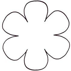 Rose Petal Outline <b>flower template</b> on pinterest crepe paper flowers, leaf <b></b>