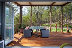 This 592 square foot home one bedroom granny flat is presented to us by Kim Alexander builders in collaboration with Baahouse + Baastudio 1 Bedroom House, One Bedroom, Tropical Architecture, Amazing Architecture, Modern Architecture, Porches, Construction Images, Relaxing Holidays, Granny Flat