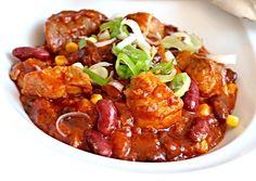 Vepřové kousky v pikantních fazolích