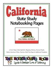 State Study - California Study Notebooking Pages - Notebooking Nook.com |  | GeographyCurrClick
