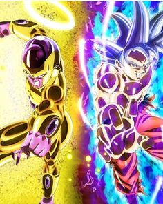 Golden Frieza and Ultra Instinct Dragon Ball Z, Dragon Ball Image, Freezer Golden, Goku Y Freezer, Manga Anime, Anime Art, Dbz Characters, Goku Vs, Ghost Rider