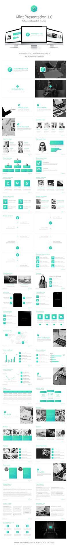 Mint Google Multipurpose Presentation Template - Google Slides Presentation Templates