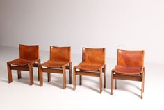 Monk Chairs by Tobia Scarpa for Molteni, Set of 4 for sale at Pamono