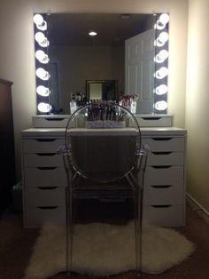 DIY iKEA Vanity with lights!