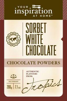 Sorbet White Chocolate Chocolate Powder #yiah #chocolate
