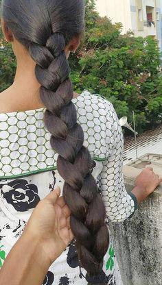 Indian Long Hair Braid, Super Long Hair, Braids For Long Hair, Beautiful Long Hair, Scissors, Braided Hairstyles, Hair Beauty, Long Hair Styles, Fashion