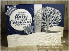 Well, clearly I mis-counted when I started my 12 Days of Christmas in July series. Here I thought it would take me to the end of the month a. Christmas Cards 2018, Merry Christmas Card, Stampin Up Christmas, 12 Days Of Christmas, Xmas Cards, Holiday Cards, Z Cards, Fun Fold Cards, Pop Up Cards