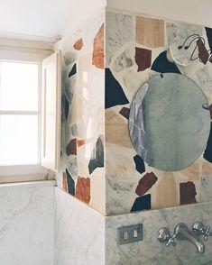 oversized terrazzo stone bathroom in pisa, italy. oversized terrazzo stone bathroom in pisa, italy. Bathroom Inspiration, Interior Design Inspiration, Bathroom Ideas, Bathroom Cost, Bathroom Wall, Small Bathroom, Bathroom Furniture, Bathroom Interior, Bathroom Flooring