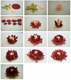Bits of Paper: 3D Dahlia & Another Mum Paper Flower