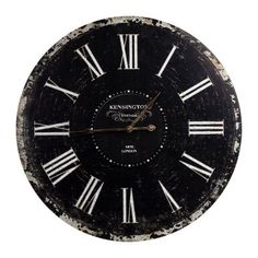 A great gift for retro fans. This enormous, old English style clock is reminiscent of a classic station clock. You'll have to look twice before you realise it isn't the real thing! The face is weathered and the paint seems to be peeling around the edges – here the vintage look has been perfected.  www.butler.com 39.90