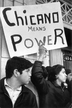 During Protest Over Apprehension of Spanish Americans in Denver Bus Bombing Case.  The Chicano Movement challenged the negative stereotypes of Mexicans as they were portrayed in mass media and sought to validate Mexican American ethnicity and culture through visual and literacy art. The Chicano Movement also addressed what it perceived to be discrimination in the public school system by staging walkouts in East Los Angeles and Denver. 1972