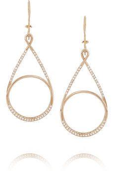 Ileana Makri                                  Spiral 18-karat rose gold diamond earrings