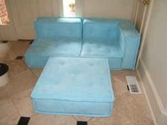 cushy lounge sectional pottery barn teen blue - Google Search
