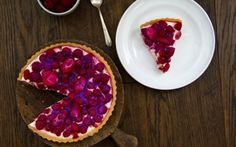 Raspberry and Rosewater Cream Tart
