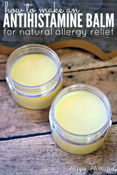 DIY antihistamine balm: it combines essential oils with natural ingredients for quick and reliable allergy relief.