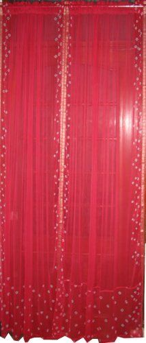 Red Curtains amazon red curtains : Amazon.com: 2 India Curtains Ivory Art Silk Sari Curtain Drape ...